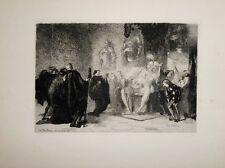 """Eau-forte de BOILVIN """"Après la harangue"""" 1868"""