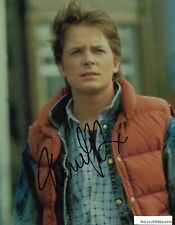 BACK TO THE FUTURE. MICHAEL J. FOX as Marty. Hand signed Colour 8x10 photo COA