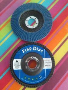 """40 Grit Flap Discs x10. 4-1/2"""", 115mm, Zirconium, Grinding, Sanding Disc"""