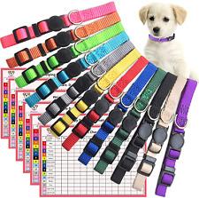 12 Pcs/Set Soft Nylon Puppy Id Collar Adjustable Breakaway Whelping Litter New