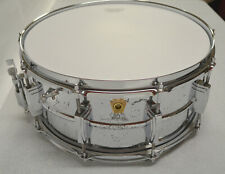 """LUDWIG 6 1/2""""X14"""" SNARE DRUM, ALUMINUM CHROME PLATED SHELL, 10 LUG"""