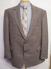 "Genuine Burberry men's brown houndstooth wool blazer Jacket 48""  Euro 58 R"