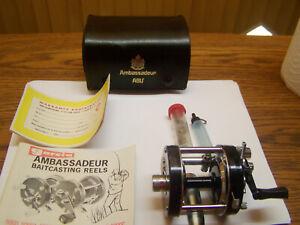 Vintage Abu Garcia Ambassadeur 5000C Lure Bait Casting Reel # 761204 EX+ In Case