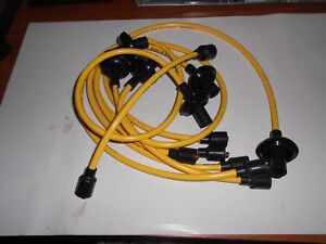 61-9 Corvair 8mm Yellow Taylor Silicone Spark Plug Wire Set