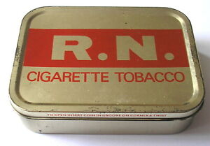Vintage R.N. Cigarette Tobacco Tin for Officers & Men of the Royal Navy