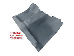To suit Holden TF Rodeo 1989 - 2002 All models Moulded Rubber Vinyl Front Floor