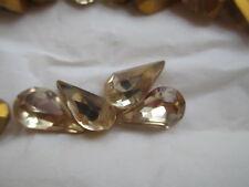 72pcs Swarovski Crystal Pear Rhinestones 13x7.8 Ceylon Topaz 4300