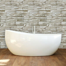 Stone Peel and Stick Wallpaper Gray Brick Self-Adhesive Film Removable 3D Vinyl