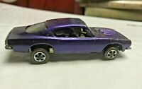 1967 REDLINE Hot Wheels CUSTOM BARRACUDA US PURPLE tan interior clear glass car
