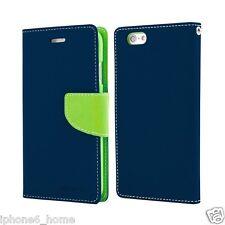 iPhone 6 6s Genuine MERCURY Goospery Fancy Diary Blue Flip Case Wallet Cover