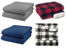 Biddeford Comfort Knit Fleece Electric Heated Warming Throw Blanket Analog