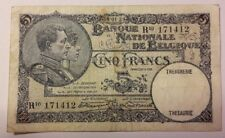 BELGIUM 5 Francs 1929 Belgïe TTB. Type 1919 Franck Stacquet
