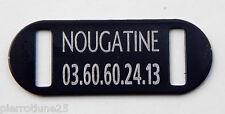 PLAQUE Médaille noire collier Chien Chat  collier harnais gravure offerte