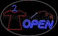 LED Schild Änderungsschneiderei Open Reklame Neon Hell Kleidung Animation Sign