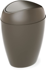 Bathroom Waste Garbage Basket Trash Can With Swing Lid 2.2Gal Clean
