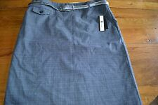 New w/ Tags Women's AB Studio Gray, Belted Skirt, Size 6, Regular Price $44