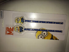 Officially Licensed   DESPICABLE ME MINION  x2 PENCIL & X2 ERASERS  OR RUBBERS
