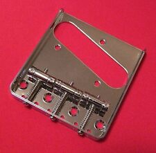 Guitar Parts TELECASTER BRIDGE - Vintage 3 Saddle - Top & Bottom Load - CHROME