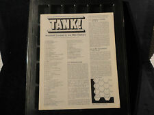 """""""TANK"""" BY SIMULATIONS PUBLICATIONS/ AN HISTORICAL SIMULATION GAME"""