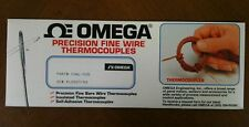 Omega CHAL-005-BW, K Thermocouple, butt-welded bare wire 0.125mm diameter, 300mm