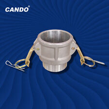 """『Cando』B-100A 1""""camlock coupling cam and groove Aluminum Trash Pump Adapter"""