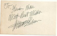 Wimbledon French Open US Open Althea Gibson (d.03) Signed Auto 3x5 Index Card  C