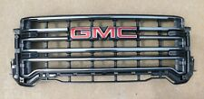 2020 GMC SIERRA 2500 3500 FRONT GRILLE W/O CAMERA OPTION BLACK CHROME 84656387