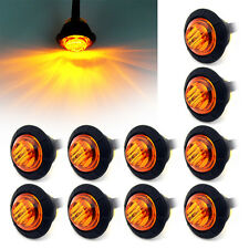 "10X 3/4"" Amber LED Bullet Boat Truck Trailer Side Marker Turn signals Light 12V"