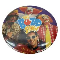 "Bozo Show - Bozo the Clown 3"" Vintage Chicago WGN TV Pin-Back Button Cooky Wizzo"