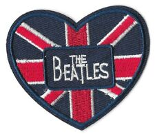THE BEATLES UNION JACK HEART Iron on / Sew on Patch Embroidered Badge 025