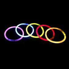 Paquete De 100 Premium Glow Sticks Glowsticks cuatro Colores Mezclados Surtido no tóxico