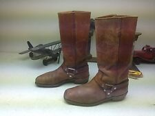 VINTAGE THE TALISMEN DISTRESSED BROWN LEATHER WESTERN ENGINEER HARNESS BOOT 9 D