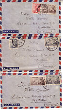 SPAIN 1952 LOT OF 3 AIR MAIL COVERS TO URUGUAY