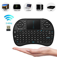 2.4Ghz Wireless Mini Keyboard With Touchpad For XBMC Android PC MX TV XBox Black