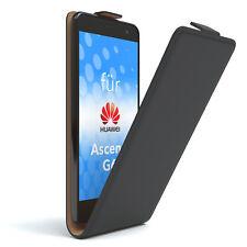 Bolso para Huawei Ascend g6 flip case protectora, funda, estuche, negro