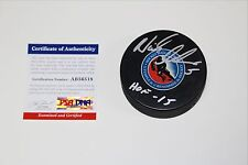 NICKLAS LIDSTROM SIGNED HOCKEY HALL OF FAME LOGO PUCK PSA/DNA AUTHENTICATED COA