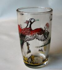 One Flying Pheasant Juice Glass; Colors are Nice
