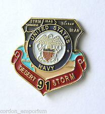 Desert Storm 1991 Navy Veteran United States USN Shield Lapel Pin Badge 1 inch