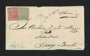 URUGUAY 10+20 cts ON COVER SALTO TO FRAY BENTOS 1866