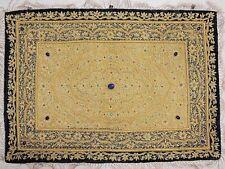 Jewel Carpet Wall Decoration – Kashmir Gold Zardozi and Semi Precious Stone Work