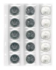 Münzenblätter UNIVERSAL mit Kombilochung für 15 Münzen, 5er-Pack [Lindner MU15]