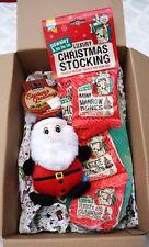 CHRISTMAS DOG TOY GIFT BOX WITH SQUEAKY PLUSH SANTA & TREAT FILLED STOCKING
