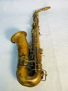 Antique 1919 C.g. Conn Elkhart Ltd. Saxophone With Mother of Pearl Accents
