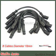 Ignition Spark Plug Cable Wire 10mm For Chevrolet Corvette Cadillac GMC Sierra
