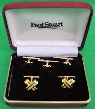 Classic Paul Stuart Sterling Vermeil Stud Box Set