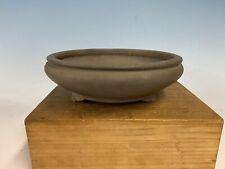 """Round Unglazed Bonsai Tree Pot By Toyo 8 7/8 By 2 3/4"""""""
