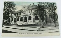 Vintage John Guitar's Residence Texas 1916 Rare Posted Greeting Card Collectible