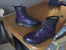 Vintage Dr Martens Botas De Cuero Púrpura 1460 UK 6 EU 39 Punk Piel Biker Inglaterra