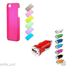 ONE Slim & Thin Matt Colored iPhone5 Hard Case + ONE Turbo USB Car Charger