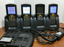 Lot of (4) Motorola Symbol MC3090-KG0PBCG00WR Laser Wireless Barcode Scanners